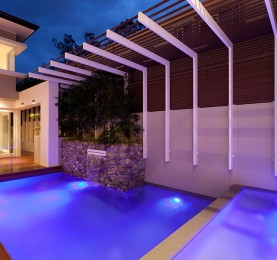 1. Australian House of the year using Thump frameless pool fence by TAK Property Group