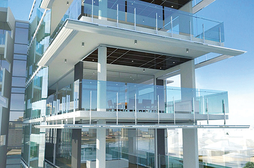 Aquila Apartments Frameless Glass Balcony Balustrade By Shane Plazibat Architects Thump