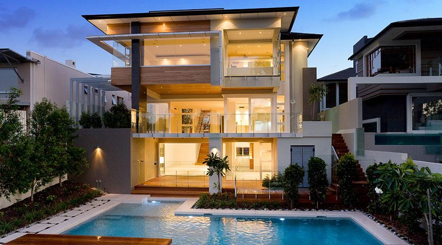 Glass Balustrade On Riverside House In Fairfield By Tak